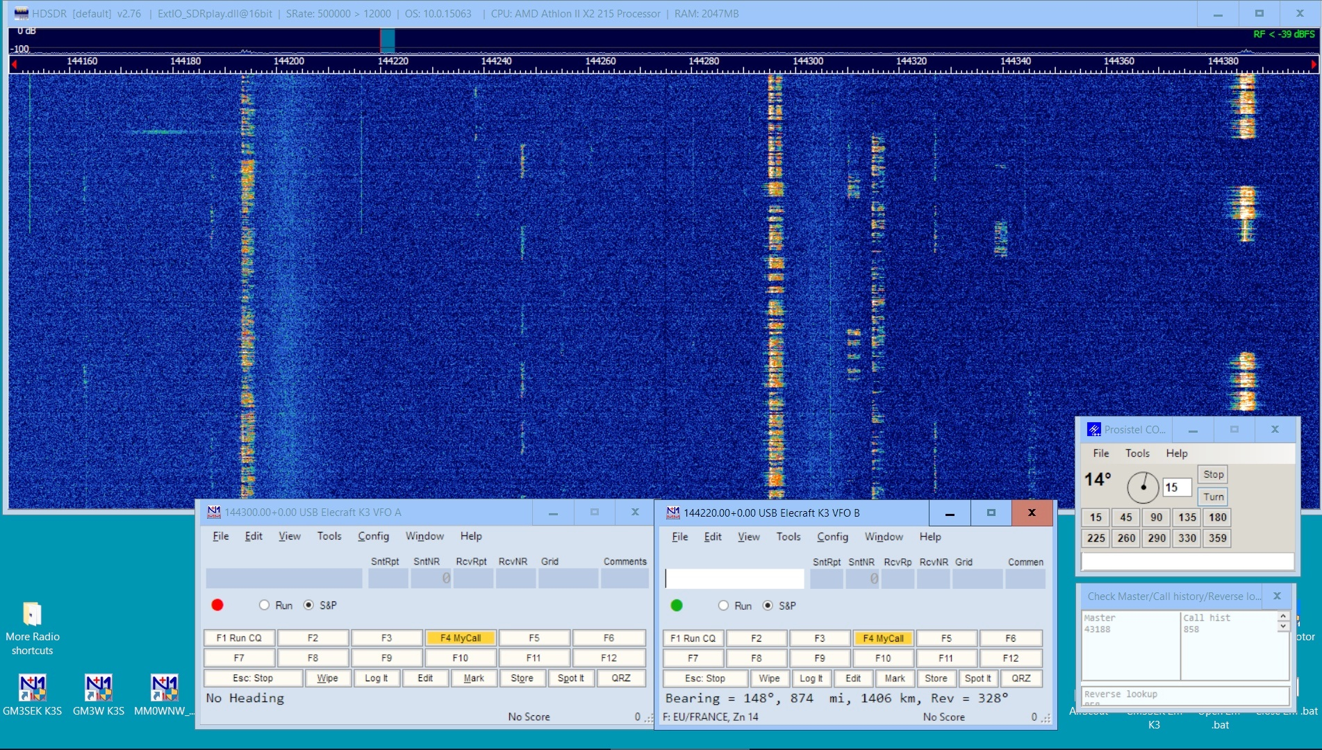 HDSDR and N1MM+